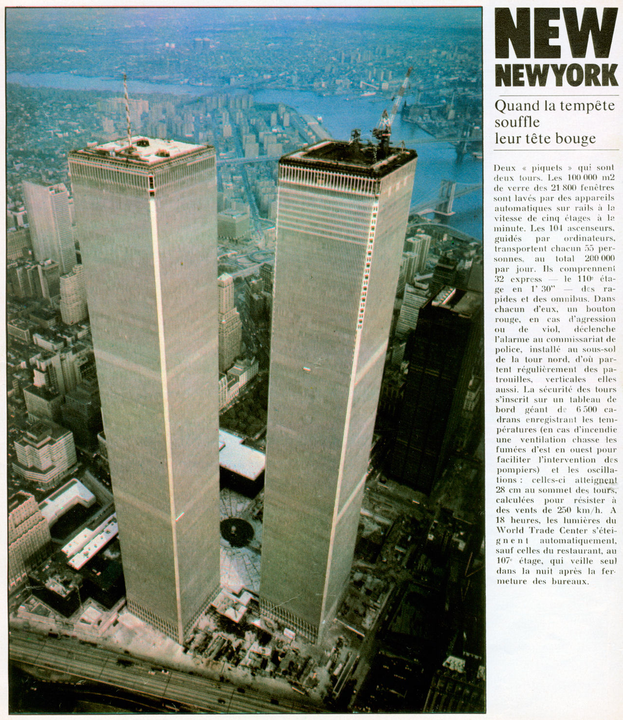 Concorde dans la presse for Building sans fenetre new york